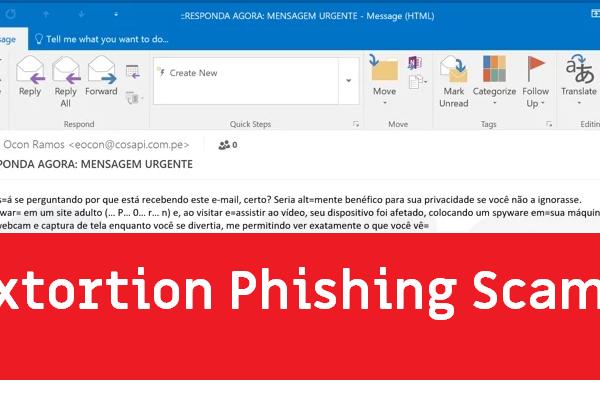 """Coloquei malware no site adulto"" email"