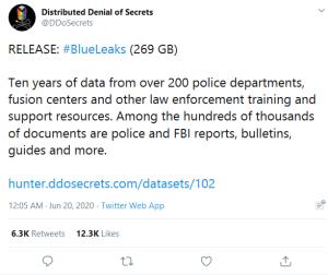 DDoSecrets tweet