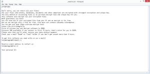 Maas ransomware note
