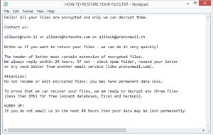 Jarkvgtiiq ransomware note