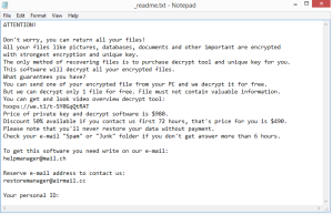 Ogdo ransomware note