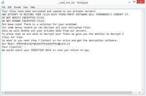 Howareyou ransomware note