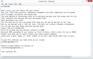 Jdyi ransomware note
