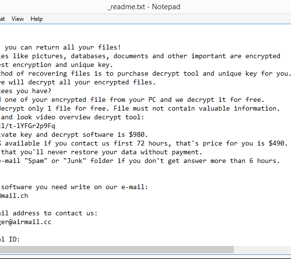Sglh ransomware removal