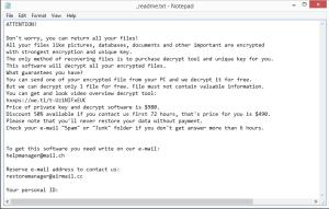 Vpsh ransom note
