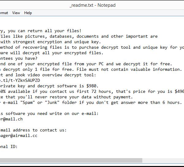 Nobu ransomware removal